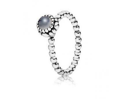 09e91a9b6 Pandora Grey Moonstone Birthstone Ring 190854MSG | PANDORA Jewelry ...